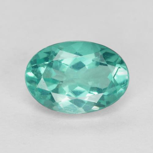 Green Blue Apatite Gem - 0.9ct Oval Facet (ID: 476203)
