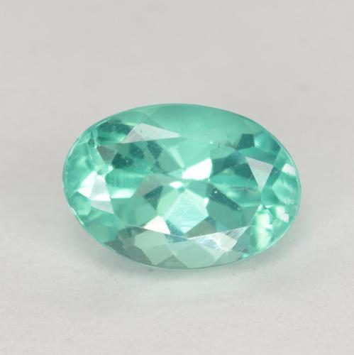 Green Blue Apatite Gem - 0.9ct Oval Facet (ID: 476208)