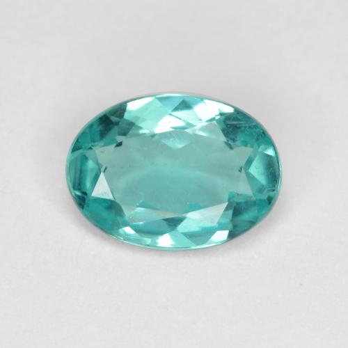 Green Blue Apatite Gem - 0.8ct Oval Facet (ID: 476209)