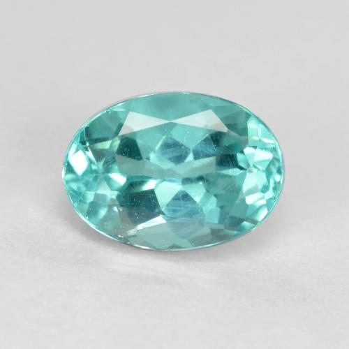 Green Blue Apatite Gem - 1ct Oval Facet (ID: 476246)