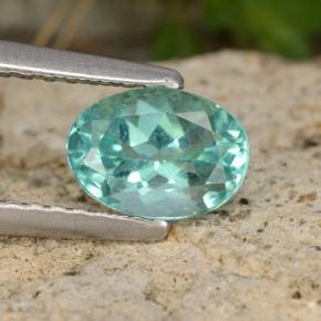 Green Blue Apatite Gem - 1ct Oval Facet (ID: 476325)