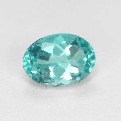 Bright Blue Green Apatite Gem - 0.9ct Oval Facet (ID: 476328)