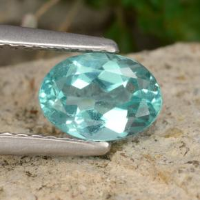 Green Blue Apatite Gem - 0.9ct Oval Facet (ID: 476334)