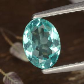 Green Blue Apatite Gem - 0.8ct Oval Facet (ID: 476397)