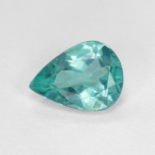Medium Blue Green Apatite Gem - 1ct Pear Facet (ID: 476445)