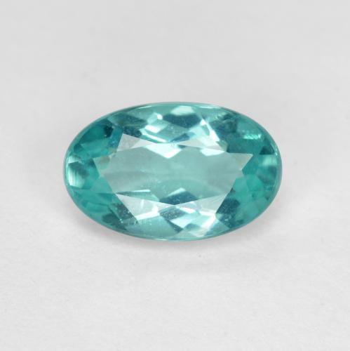 Green Blue Apatite Gem - 1ct Oval Facet (ID: 476453)