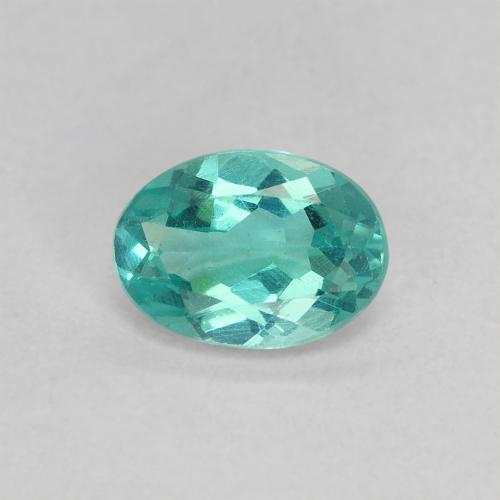 Green Blue Apatite Gem - 0.8ct Oval Facet (ID: 476521)