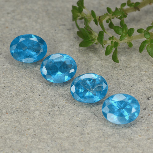 Blue Apatite Gem - 0.3ct Oval Facet (ID: 488761)