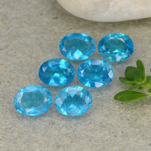 0.3ct Oval Facet Medium Blue Apatite Gem (ID: 488782)