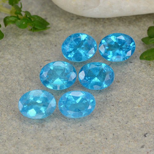 0.3ct Oval Facet Swiss Blue Apatite Gem (ID: 488783)