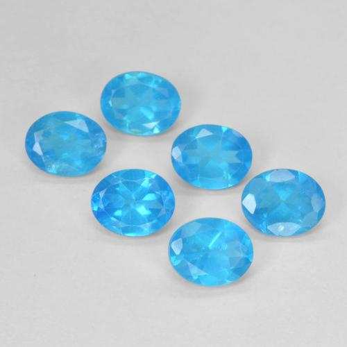 0.4ct Oval Facet Deep Azure Apatite Gem (ID: 488786)
