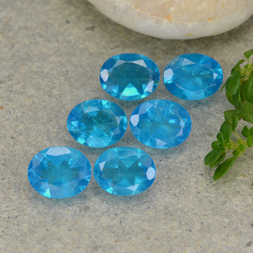 0.3ct Oval Facet Medium Blue Apatite Gem (ID: 488788)