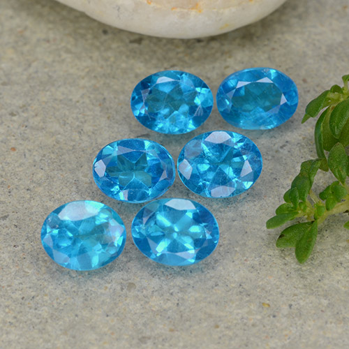 0.3ct Oval Facet Medium Blue Apatite Gem (ID: 488792)