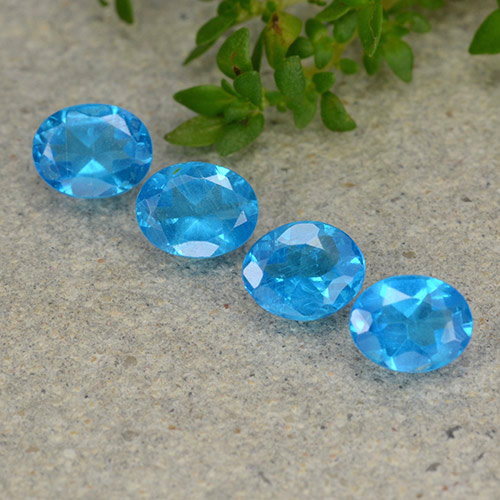 0.3ct Oval Facet Intense Blue Apatite Gem (ID: 488795)