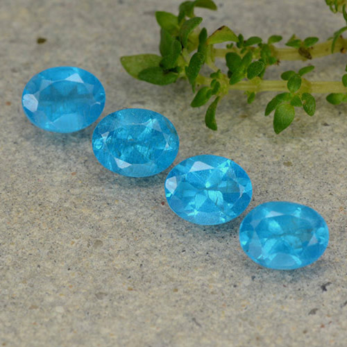 0.4ct Oval Facet Medium Blue Apatite Gem (ID: 488805)