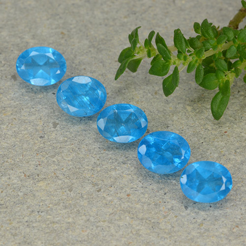 Blue Apatite Gem - 0.4ct Oval Facet (ID: 488806)