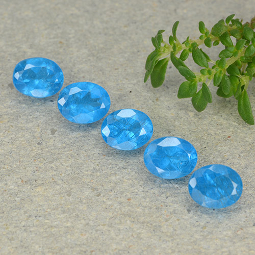 0.4ct Oval Facet Medium Blue Apatite Gem (ID: 488812)
