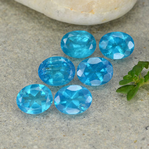 0.4ct Oval Facet Electric Blue Apatite Gem (ID: 488818)