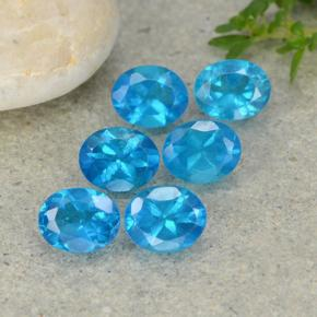 Blue Apatite Gem - 0.4ct Oval Facet (ID: 488820)