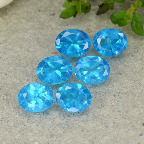 0.4ct Oval Facet Swiss Blue Apatite Gem (ID: 488821)