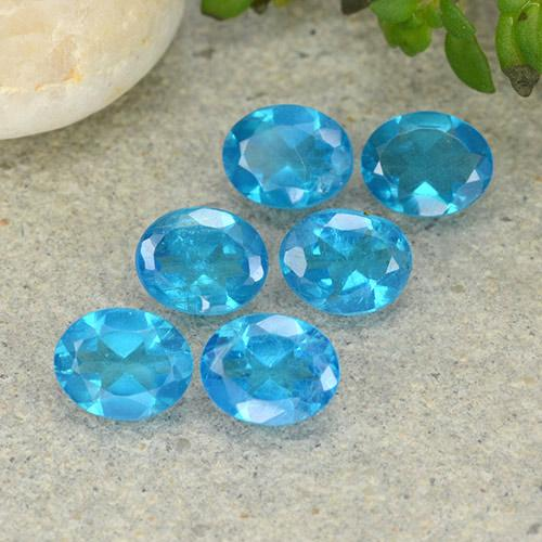 0.4ct Oval Facet Electric Blue Apatite Gem (ID: 488822)