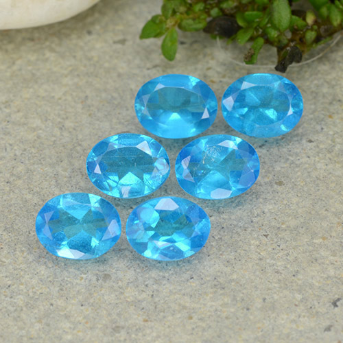 0.3ct Oval Facet Swiss Blue Apatite Gem (ID: 488827)
