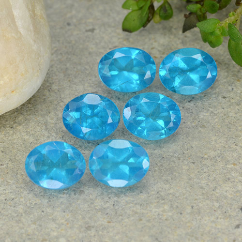 0.4ct Oval Facet Swiss Blue Apatite Gem (ID: 488829)