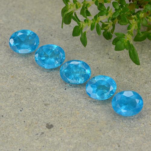 0.4ct Oval Facet Swiss Blue Apatite Gem (ID: 488832)