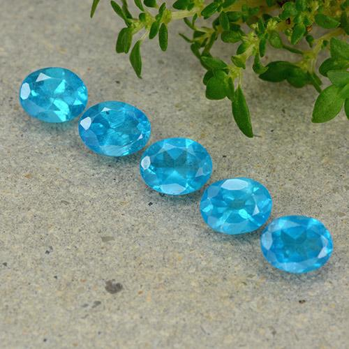 0.4ct Oval Facet Deep Aqua Apatite Gem (ID: 488834)
