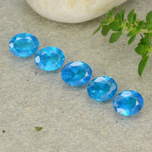 0.3ct Oval Facet Azure Blue Apatite Gem (ID: 488840)