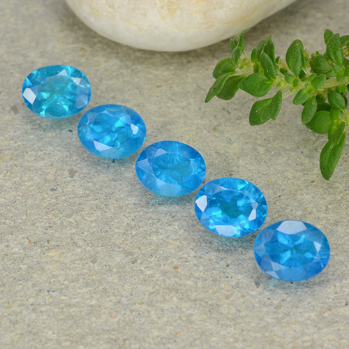 0.4ct Oval Facet Swiss Blue Apatite Gem (ID: 488841)