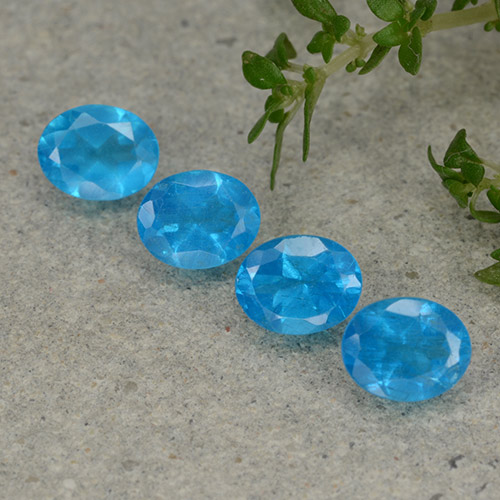 0.4ct Oval Facet Azure Blue Apatite Gem (ID: 488844)