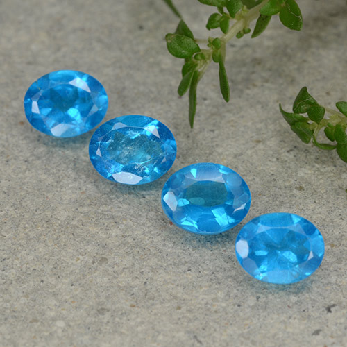 0.4ct Oval Facet Medium Blue Apatite Gem (ID: 488845)