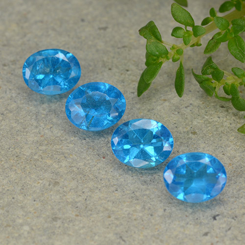 0.4ct Oval Facet Swiss Blue Apatite Gem (ID: 488846)