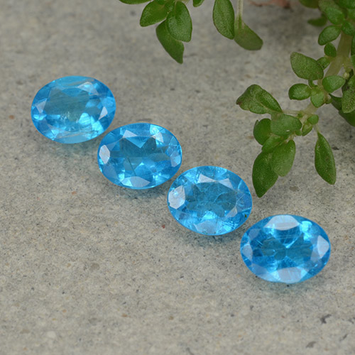 0.3ct Oval Facet Swiss Blue Apatite Gem (ID: 488847)