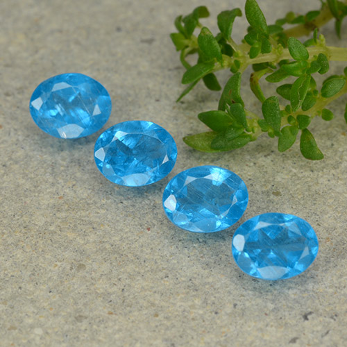 0.4ct Oval Facet Swiss Blue Apatite Gem (ID: 488849)