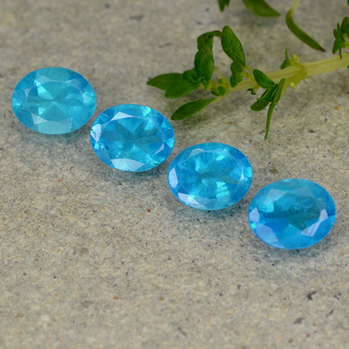 0.3ct Oval Facet Swiss Blue Apatite Gem (ID: 488855)