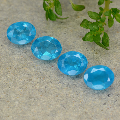 0.4ct Oval Facet Electric Blue Apatite Gem (ID: 488859)