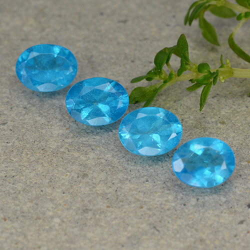0.4ct Oval Facet Electric Blue Apatite Gem (ID: 488863)