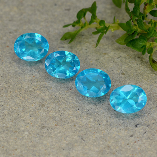 0.4ct Oval Facet Deep Aqua Blue Apatite Gem (ID: 488864)