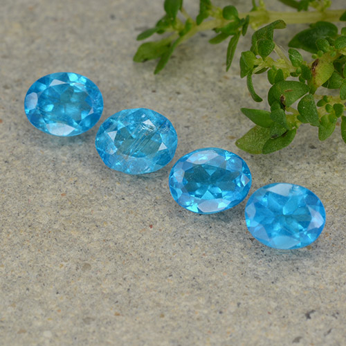 0.3ct Oval Facet Swiss Blue Apatite Gem (ID: 488865)