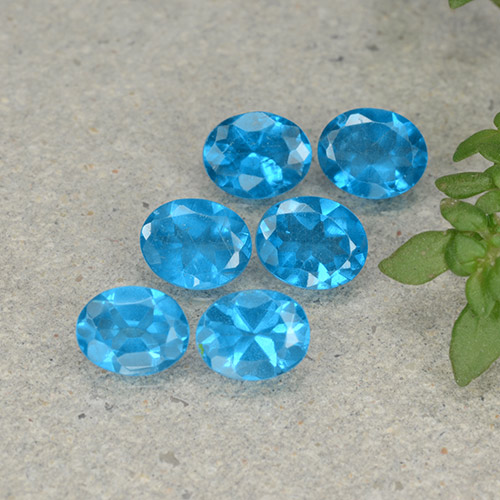 Blue Apatite Gem - 0.4ct Oval Facet (ID: 488866)