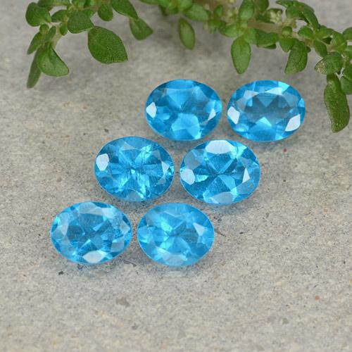 0.4ct Oval Facet Swiss Blue Apatite Gem (ID: 488867)