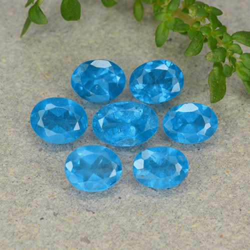 0.4ct Oval Facet Swiss Blue Apatite Gem (ID: 488868)