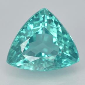 Blue Green Apatite Gem - 4.3ct Trillion Facet (ID: 500149)