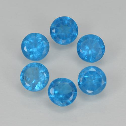 Blue Apatite Gem - 0.2ct Round Facet (ID: 501854)