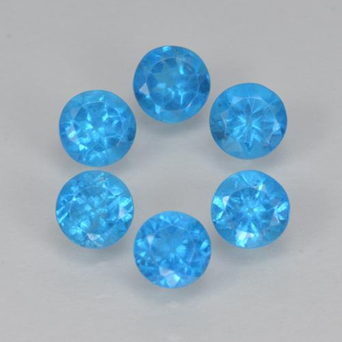 Blue Apatite Gem - 0.2ct Round Facet (ID: 501862)