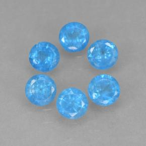 Blue Apatite Gem - 0.2ct Round Facet (ID: 502601)