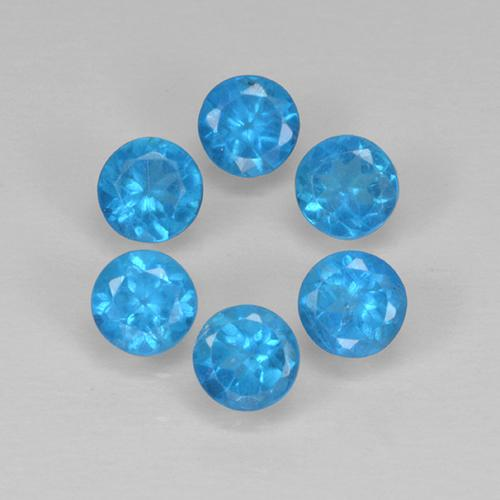 Medium Blue Apatite Gem - 0.2ct Round Facet (ID: 503067)
