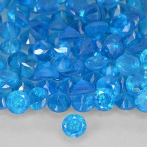 Blue Apatite Gem - 0.1ct Round Facet (ID: 503687)
